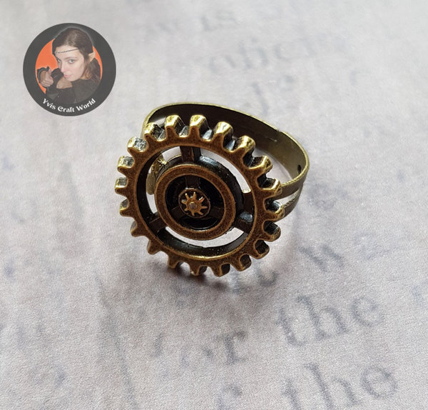 "Fingerring ""Zahnrad"" Steampunk"