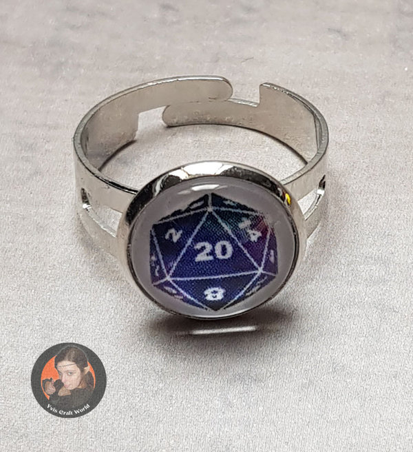 "Fingerring ""W20-Galaxy"" silber"