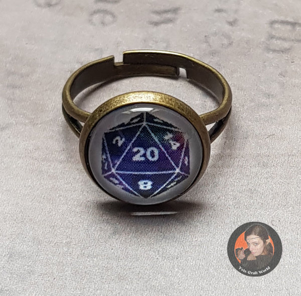 "Fingerring ""W20-Galaxy"" bronze"