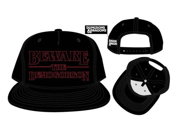 Dungeons & Dragons - Snapback Cap - Beware the Demogorgon