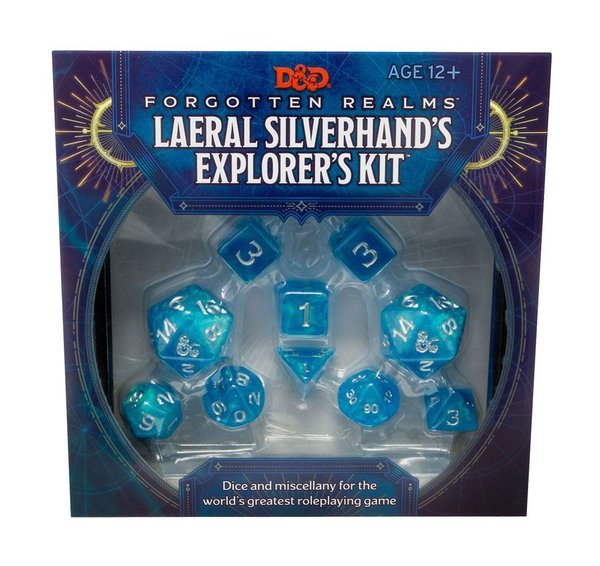 Dungeons & Dragons - RPG Würfel Set - Forgotten Realms: Laeral Silverhand's Explorer's Kit - Dice &