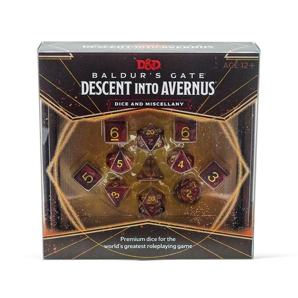 Dungeons & Dragons - RPG Würfel Set - Baldur's Gate: Descent into Avernus - Dice & Miscellany