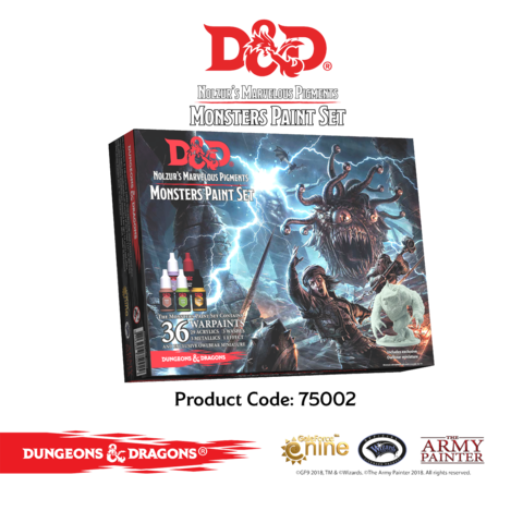 D&D - Nolzur's Marvelous Pigments- Monsters Paint Set !!VORBESTELLUNG!!