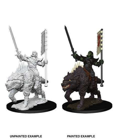 "Pathfinder Battles -Deep Cuts Miniaturen unbemalt ""Orc on Dire Wolf""  !!VORBESTELLUNG!!"